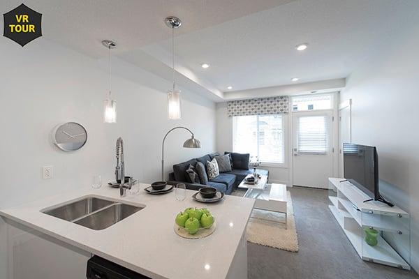 Cali - Kitchen Island - Living Room VR 600x400